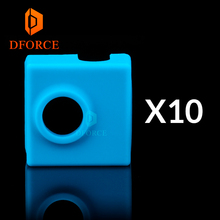 DFORCE 10PCS high quality cartridge heater bock silicone socks for MK9 heated block hotend I3 CR10 nozzle