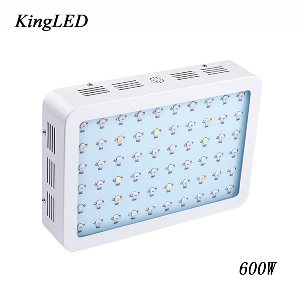 KingLED 600W Double Chips LED Grow Light Full Spectrum 410-730 nm For Indoor Plants Grow and Flower Phrase Very High Yield on sale black kingled double chips full spectrum led grow light 600w 800w 1000w 1500w for aquario hydroponic lamp high yield