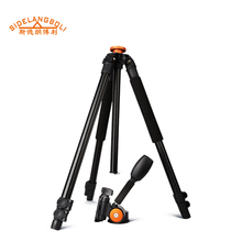 SL168 portable travel tripod digital tripod kit for action camcorder , 3 section flip leg lock tripod stand with single panhead