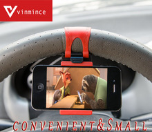 Universal Car Steering Wheel Mobile Phone Holder, Bracket for iPhone Xiaomi Samsung Huawei Meizu GPS Width of suitable 56mm-76mm