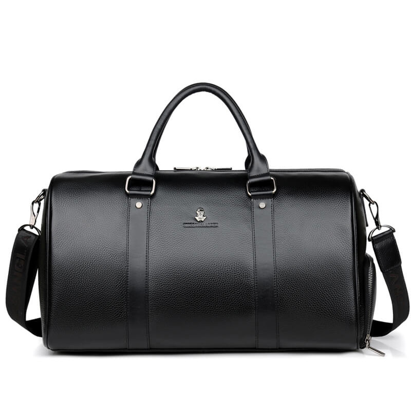 100% Cow Genuine Leather Men Travel Bags Overnight Duffel Bag Weekend Travel Large Business Tote Bags Crossbody Travel Bags