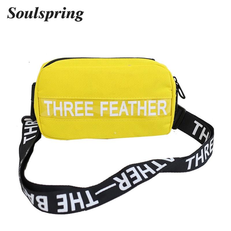 SOULSPRING Brand 2018 Fashion Men Waist Bag Women Fanny Packs Oxford Letter Waist Packs Belt Bag Female Chest Handbag Drop Ship