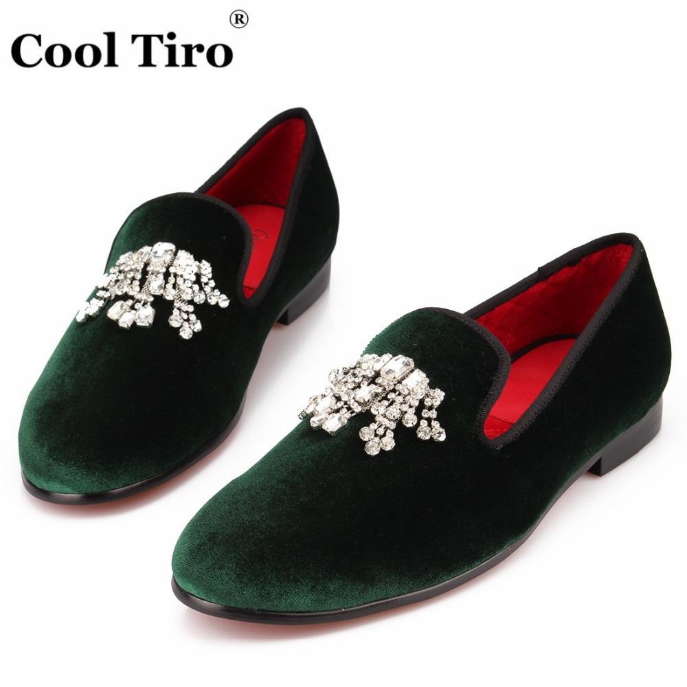 Algodão Diamante De Sapatos Verde Borla Chinelos Tamanho Loafers Deslizamento Legal Fumar Veludo Vermelho Em Homens 13 Festa Europeu Tiro Grande Flor zfOwx1UTq