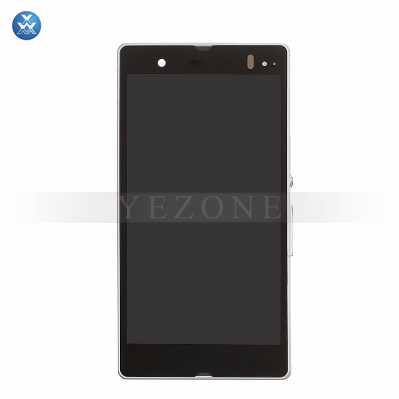 Sony Xperia Z L36h LCD & Digitizer Assembly with Frame - WHITE (3)
