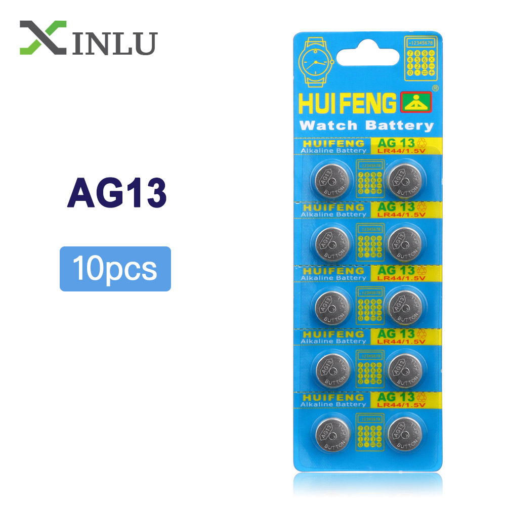 Wholesale 10pcs/Lot AG13 357A LR44 SR44SW SP76 L1154 RW82 RW42 Button Cell Watch Coin Battery For Watch,COSMOSNEWLAND