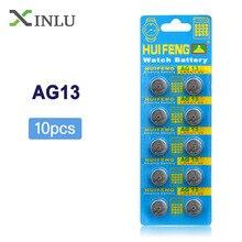 цены на 10pcs/Lot= 1pack ,AG13 357A LR44 SR44SW SP76 L1154 RW82 RW42 Button Cell lithium Battery ,Watch Coin Battery, Free Shipping  в интернет-магазинах