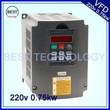 220V 0.75KW VFD CNC mili motor hız kontrolü 750W değişken frekans sürücü Inverter 1HP veya 3HP giriş 3HP çıkış
