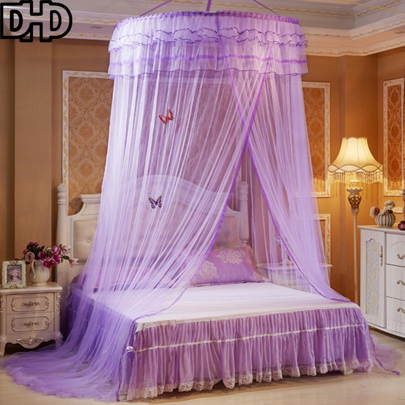 Luxury Hung Dome Mosquito Net Insect Bed Canopy Netting Romantic Round  Mosquito Nets Muskieten Net Princess