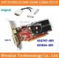 Frete Grátis para HP 432747-001 431834-001 Alta Qualidade ATI X1300/X1500 256 M 128bit PCI-E Placa de vídeo Gráfico com DMS 59 Cabo