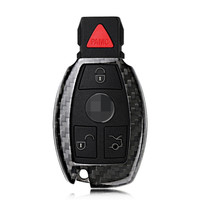 Teeze Brand New High Quality New Real Carbon Fiber Auto Remote Flip Key Fob Holder Skin Shell Case For Benz Series