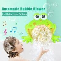 Frogs Automatic Bubble Baby Bath Toy Bubble Machine Big Maker Blower Music Bubble Maker Bathtub Soap Machine Toys dropshipping