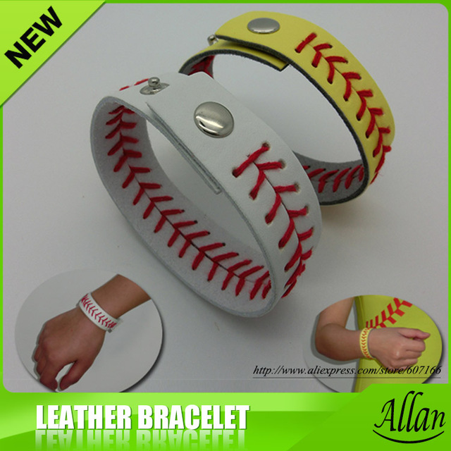 2017 High Quality Real Leather Softball Seam Bracelets Sch Bracelet