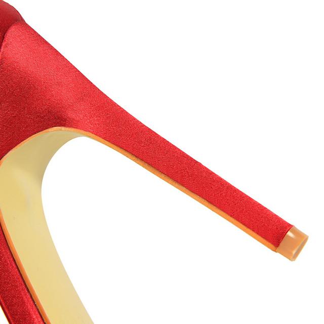 Sandalias de seda fetiche de talla grande con tacón alto de 11cm .Zapato sexy de mujer