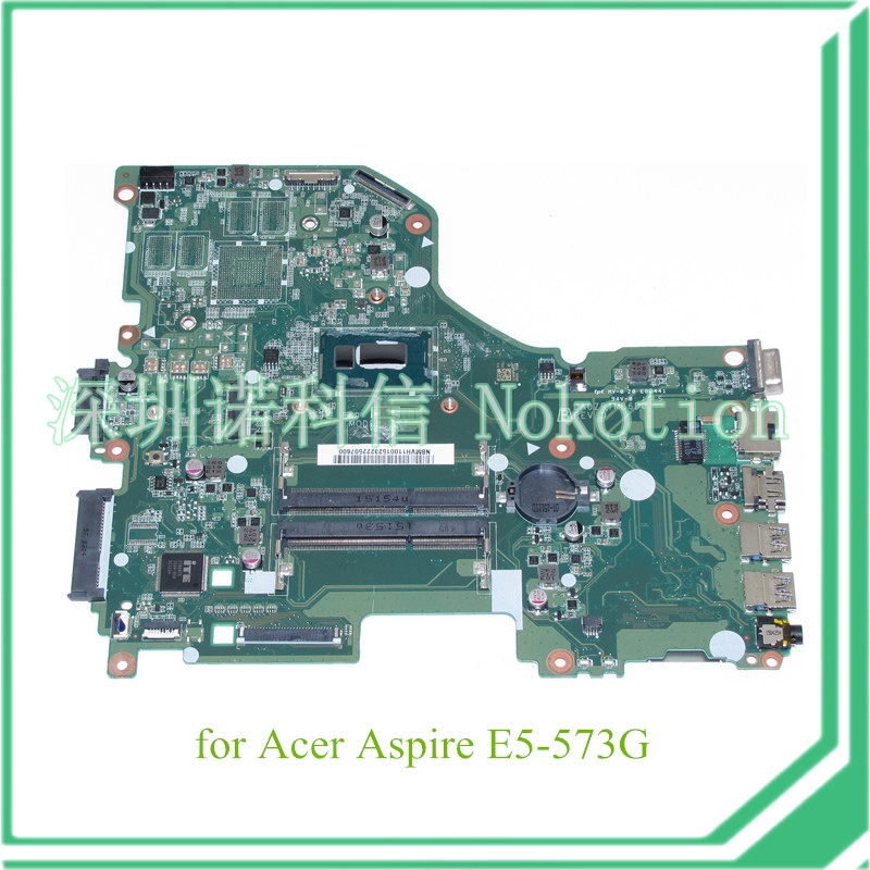 NOKOTION DA0ZRTMB6D0 NBMVH11001 NB.MVH11.001 For acer aspire E5-573G motherboard I3-4005U 1.7Ghz CPU женские сапоги ecco 351123 14 11001 01220