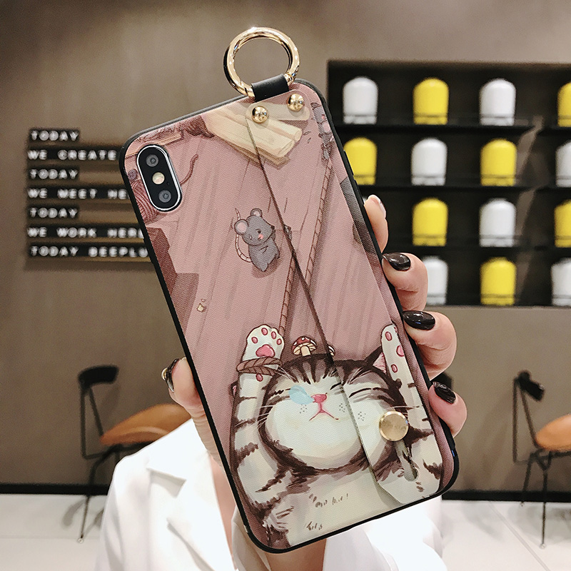 Girls Fashion Case with Wrist Strap for iPhone 11/11 Pro/11 Pro Max 36