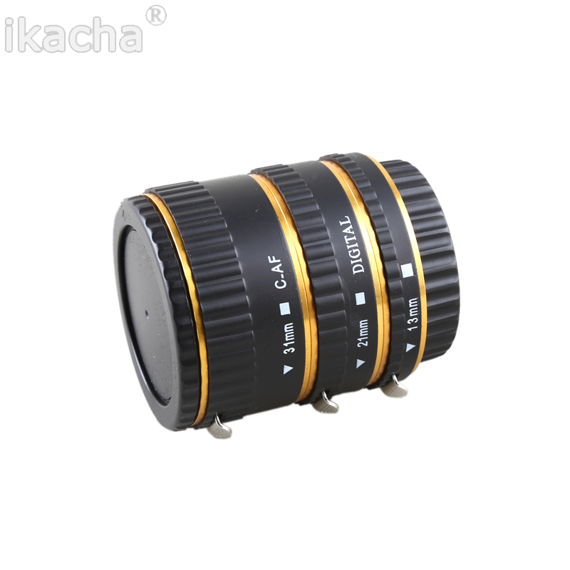 Metal Mount Auto Focus AF Macro Extension Tube Ring (1)