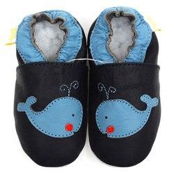 جلد الطفل أحذية الصبي الطفل الأخفاف الحيوان الاطفال حذاء طفل صغير النعال لينة الرضع حذاء أزرق سرير أحذية الأولى ووكر 0-4y