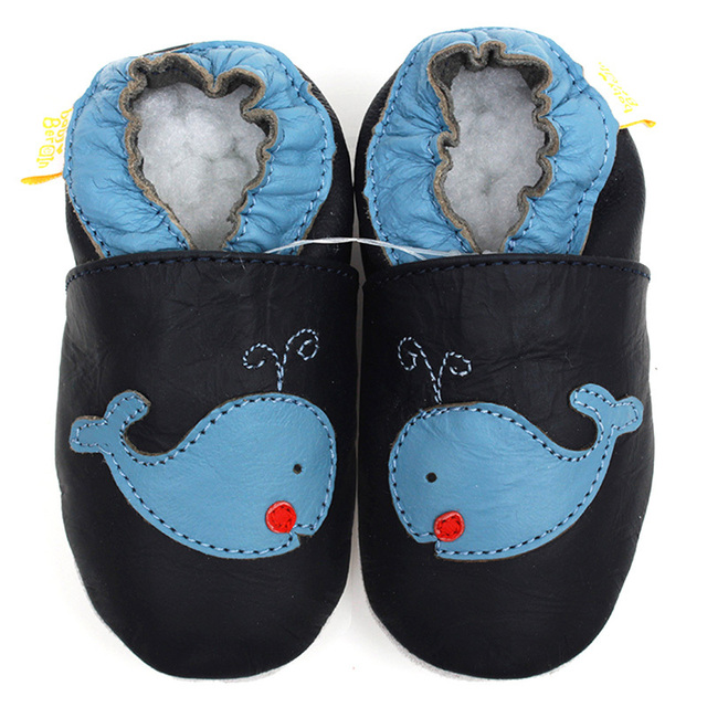 Leather Baby Shoes boy Baby Moccasins Animal Kids Toddler Shoes Slipper Soft Infant Shoe Blue Crib Shoes First Walker 0-4y