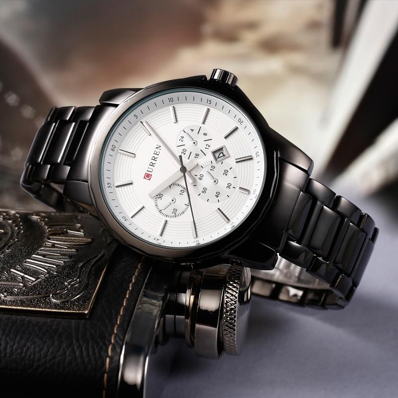 HOT CURREN Relojes de Cuarzo Hombres de Primeras Marcas de Lujo - Relojes para hombres - foto 4