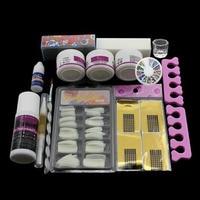 Pro Complet Pro Nail Art Conseils DIY Kit Acrylique Nail Liquid Powder Nail Art Tool Set UV Gel Conseils Kit ensemble