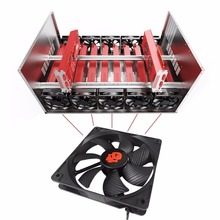 Crypto Coin Open Air Mining Frame Rig Graphics Case ATX Fit 6/8 GPU Ethereum ETH ETC ZEC XMR Magnalium Alloy 5 Fans