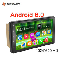 TOPSOURCE Car Radio 7 inch Universal RDS 2 Din Android 6.0 Car DVD Player 1G NAVIGATION For VW Nissan Car Multimedia Player