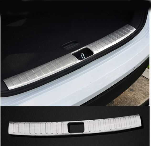 ACCESSORIES FIT FOR 2015 2016 Hyundai TUCSON TL REAR BUMPER PROTECTOR CARGO BOOT SILL PLATE TRUNK LIP car rear trunk security shield cargo cover for hyundai tucson 2006 2014 high qualit black beige auto accessories