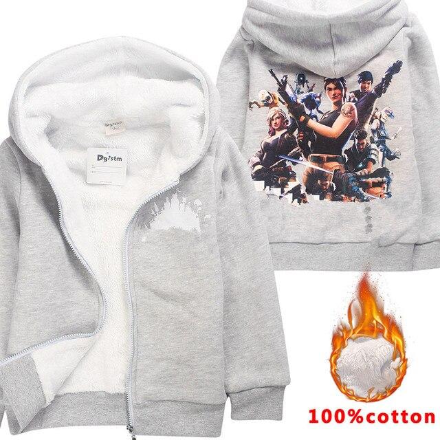 Cartoon Winter Katoen Jongens Lange Mouw Truien Battle Royal Sweatshirts