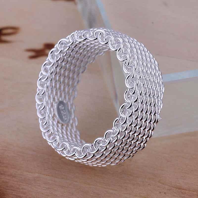 ขายร้อน 925 แสตมป์เงินแหวนแฟชั่นแหวนผู้หญิงเครื่องประดับเงินเครื่องประดับเงินแหวนนิ้วมือขายส่ง