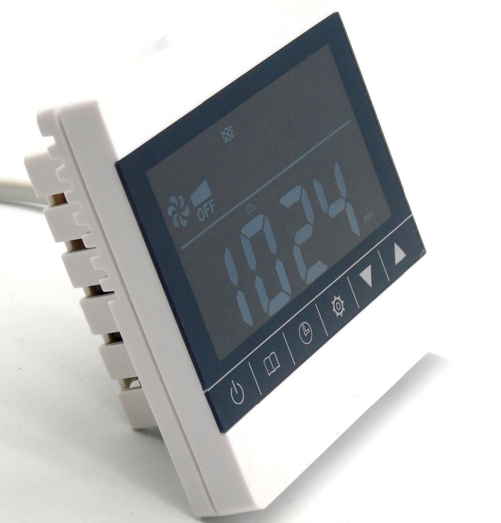 ФОТО Touch Screen air quality monitoring instruments Co2 control range 350ppm-1000ppm with Three-speed ventilator