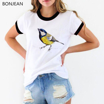 watercolor birds printed t shirt women funny vogue tshirt camiseta mujer harajuku shirt femme tumblr clothes female t-shirt perfume bottle watercolor hand t shirt women harajuku anime t shirt 90s korean style tshirt graphic aesthetic top camiseta mujer