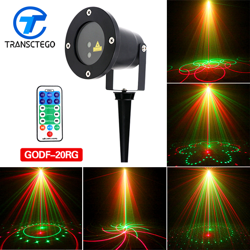 цена на Christmas Laser Projector 20 Patterns Led Lights Effect Remote Waterproof IP65 Outdoor Garden Decorative Holiday Xmas Lawn Lamp