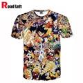 2016 Summer New Style Dragon Ball Super Saiyan Printing 3D T Shirt Fashion Men Women Personality High Quality T-shirt Homme Tees