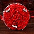 Цветок розы 6 Цвет Люкс Для Невесты свадебный букет искусственный цветок розы кристалл свадебные букеты