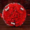 Rose flower 6 Color Bridal Bridesmaid wedding bouquet artificial flower rose crystal bridal bouquets