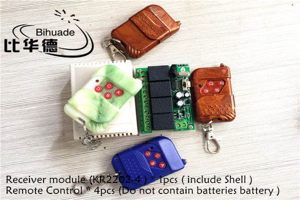315 Mhz Wireless Remote Control Switch DC 12V 4CH relay 1527 Learning code Receiver Module and 4pcs 315Mhz RF Remote Transmitter remote switch 12v dc rf wireless 4 receiver 3 transmitter lighting digital switch learning code toggle momentary 315 433 92mhz