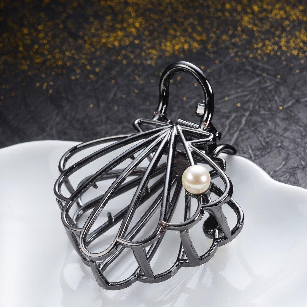 Simple Gun Black Gold Hair Claws For Women Girls Charm Hair Jewelry Metal Big Crab Clip Fashion Wedding Hair Accessories Gifts