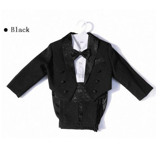2017 Boys suits for weddings Kids Prom Suits Black White Wedding Suits for Boys Tuxedo Children