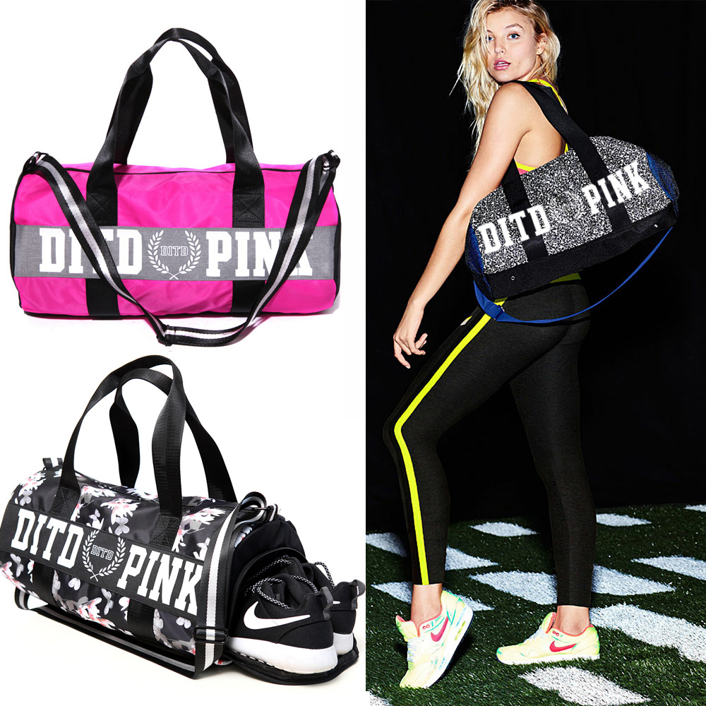 New Women Gym Bag for shoes Waterproof polyester top female sports bag fitness women shoulder bag backpack female sports ...