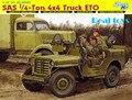 Dragão 1/35 6725 SAS 1/4 Ton 4 x 4 caminhão ETO Jeep Kit modelo de plástico frete grátis