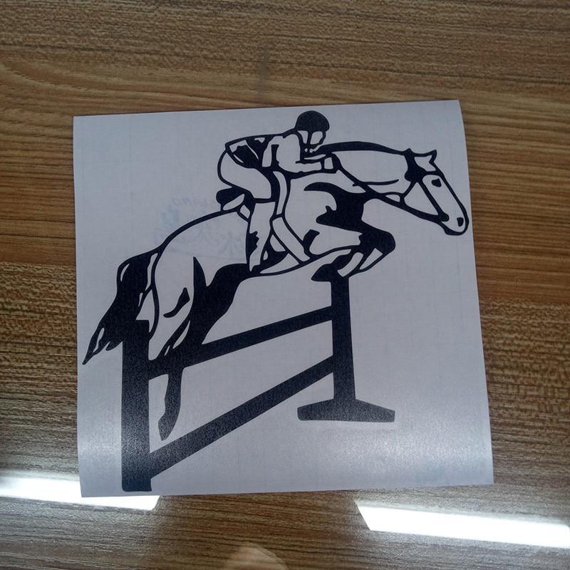 Купить с кэшбэком Jumping Horse Pony Mare Car Stickers Car Styling Vinyl Decals Motorcycle Accessories