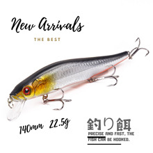 NEW 1pcs MINNOW fishing lure 5 color Wobblers Crankbait Ocean HOT high quality japanese style professional lifelike Lake river