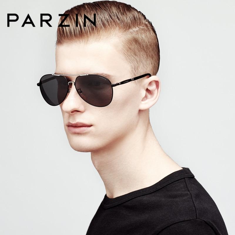 PARZIN Cool Pilot Sunglasses For Men Polarizing Glasses For Driving Alloy Frame Mens Sun Glasses Brand