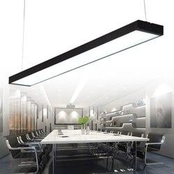 Prostokątne lampy wiszące LED oświetlenie kuchenne LED lampy długie wiszące lampy sufitowe oprawy oświetleniowe sypialnia salon w Wiszące lampki od Lampy i oświetlenie na