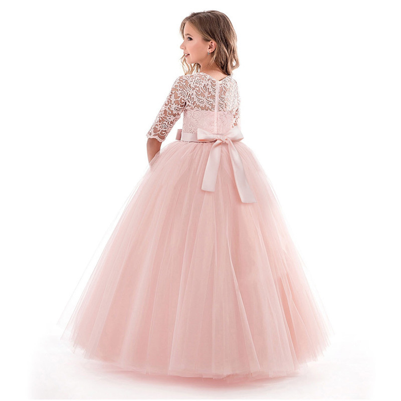 Princess Party   Dress   for   Girls   Wedding Lace   Flower     Girl     Dress   Kids Birthday New Years Clothes 3 4 5 6 7 8 9 10 11 12 13 14 Years