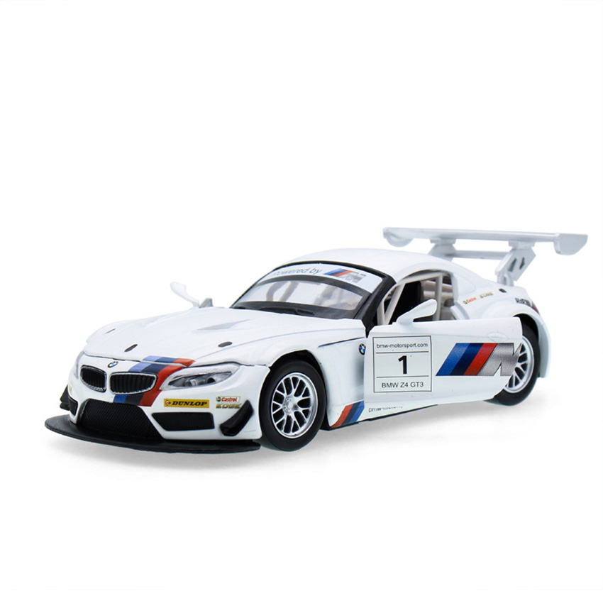 1:32 Z4 GT3 Simulation Coupe Toy Vehicles Model Alloy Pull Back Children Toys Genuine License Collection Gift Off-Road Car Kids
