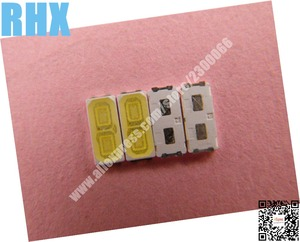 Image 2 - 200piece/lot For repair LCD TV LED backlight Article lamp SMD LEDs LG 6V 7030 80MA Cold white light emitting diode