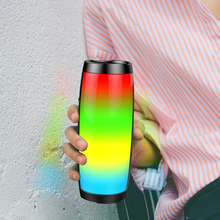 Wireless Bluetooth Speaker LED Portable Boom Box Outdoor Bass Column Subwoofer Sound Box with Mic Support TF FM USB Subwoffer mini round wireles bluetooth speaker portable big bass with mic led light tf aux fm subwoofer sound box for phone