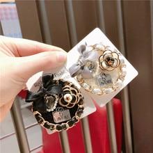 Korea Handmade Vintage Saturna Bowknot Rhinestone Badge Brooches Pins Fashion Jewelry Woman Accessories-JQGWBH029E