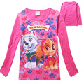 wholesale 4pcs/lot Children T Shirts, Long Sleeve Girls TShirts,Spring Autumn Kids girl Children T-Shirts Kids Tops Cartoon Dog